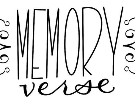 Memory Verse of the Week