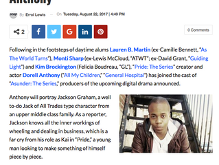 Soap Opera Network Article Dorell Anthony
