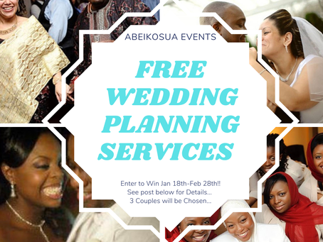 FREE WEDDING PLANNING SERVICES GIVEAWAY