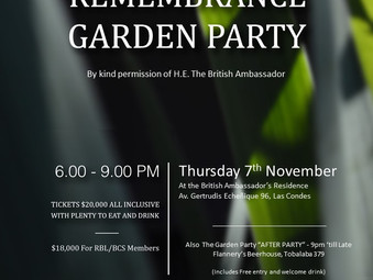 Royal British Legion Annual Remembrance Garden Party - RESCHEDULED