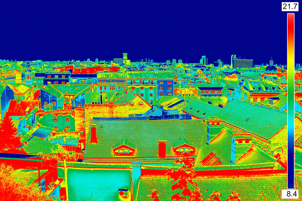 Thermal Image Of Town