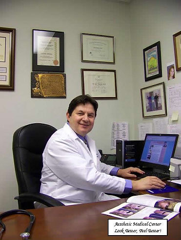 Dr Marcovici reviewing a chart