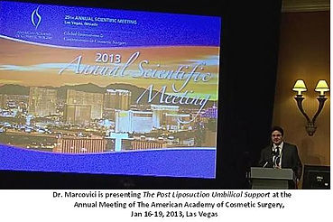 Dr Marcovici presenting at international meeting
