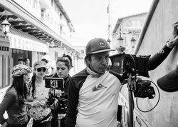 Director en el set