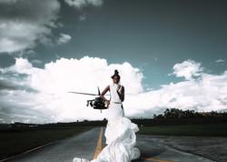 Fashion photoshoot con helicoptero Colombia