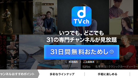 6位 dTVチャンネル