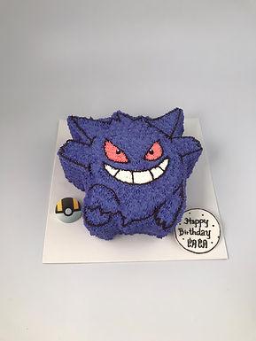 Poke 耿鬼 吱花蛋糕
