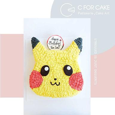 Pikachiu 比卡超平面吱花蛋糕