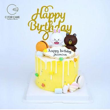Line 熊大兔兔 .真.玩具 蛋糕