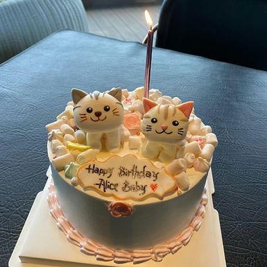 貓貓 糖公仔 忌廉蛋糕
