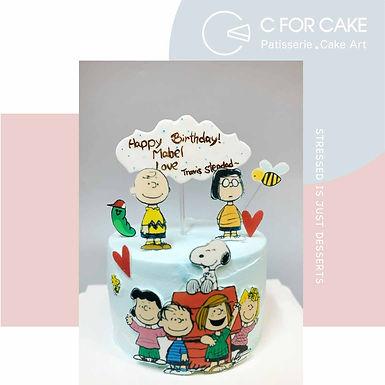 Snoopy Family 數碼打印 Cream Cake