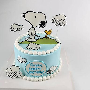 Snoopy 主題 數碼打印 Cream Cake