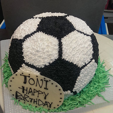 足球 吱花蛋糕