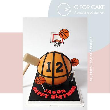 籃球扑爆蛋糕