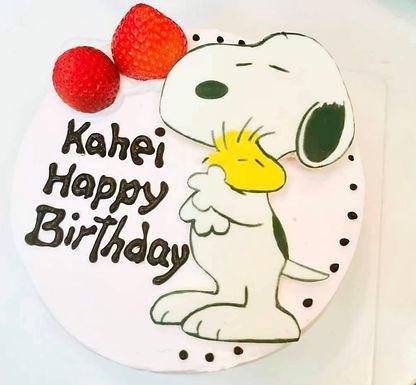 Snoopy 數碼打印平面Cream Cake