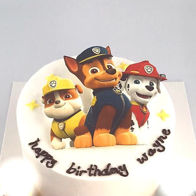 Paw Patrol 狗狗 數碼打印平面Cream Cake