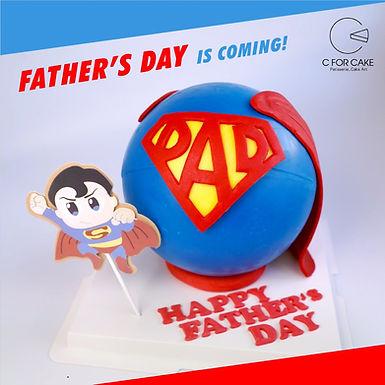 父親節限定 Super Dad 扑爆蛋糕