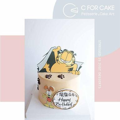 加菲貓 數碼打印 Cream Cake