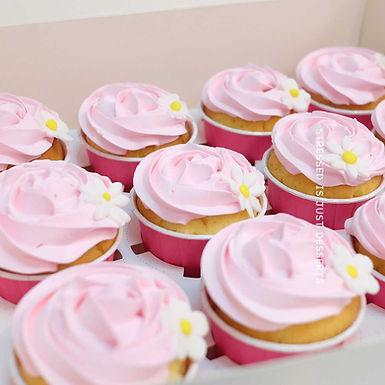 粉紅夏菊 Cup Cake 12件