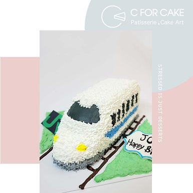 JR 火車 吱花蛋糕