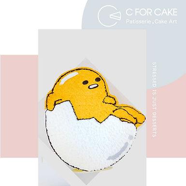 Gudetama 蛋黃哥 平面吱花蛋糕