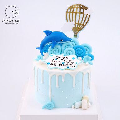 海洋小海豚 糖公仔 忌廉蛋糕