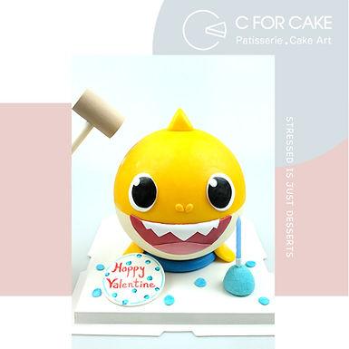 Baby Shark 扑爆蛋糕