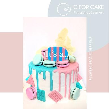 Gender Reveal Cake 寶寶性別揭曉蛋糕
