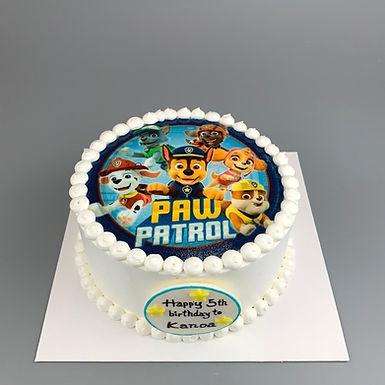 Paw patrol數碼打印 Cream Cake