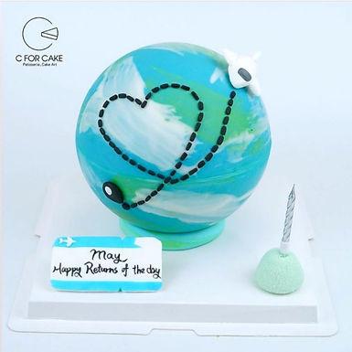 飛機 地球 扑爆蛋糕