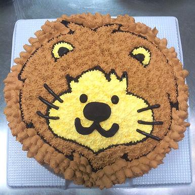 小獅子 吱花蛋糕