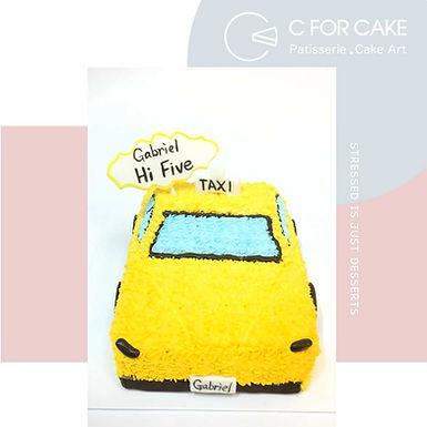 黃的士 吱花蛋糕