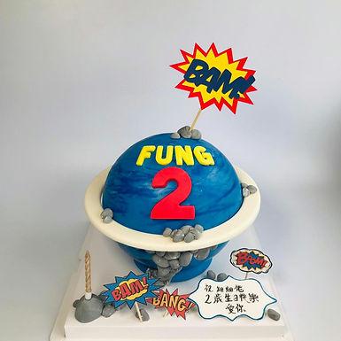 藍色英雄星球 扑爆蛋糕