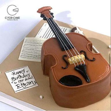 翻糖小提琴 牛油蛋糕