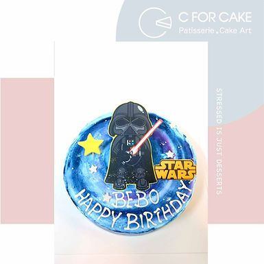 Starwars 平面打印 Cream Cake