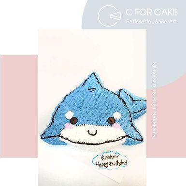小鯊魚 吱花蛋糕