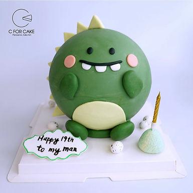 可愛 小恐龍 扑爆蛋糕