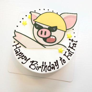 黑超連豬Cream Cake