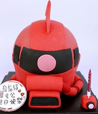 Gundam  紅慧星 渣古  扑爆蛋糕