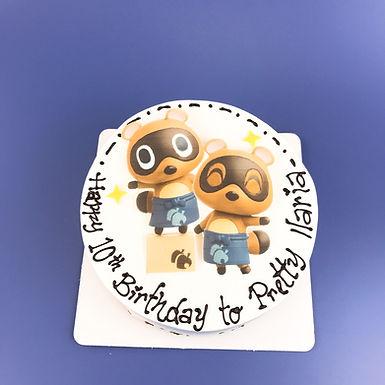 動森狸克 數碼打印平面Cream Cake
