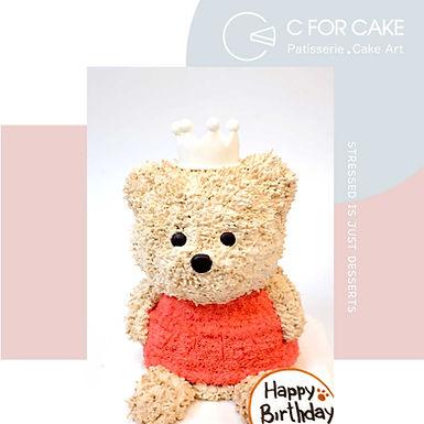 生日熊 吱花蛋糕