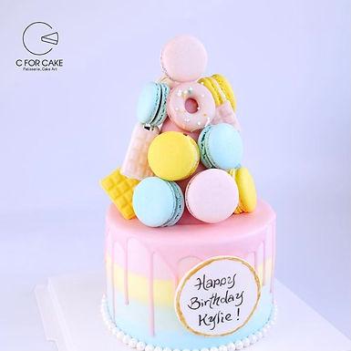 粉色系 糖果塔蛋糕