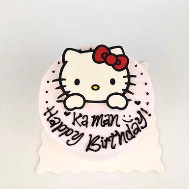 Hello Kitty 數碼打印平面Cream Cake