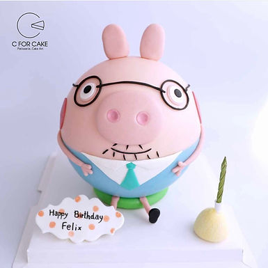 Peppa daddy 小豬扑爆蛋糕