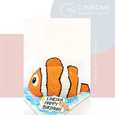 小丑魚 吱花蛋糕