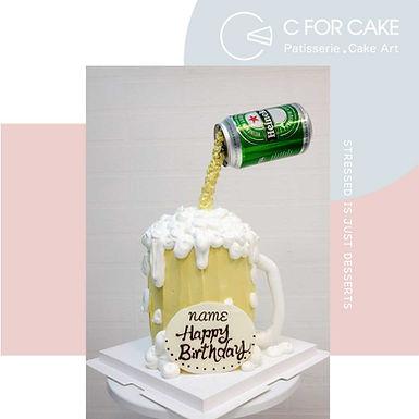 啤酒造型 Cream Cake