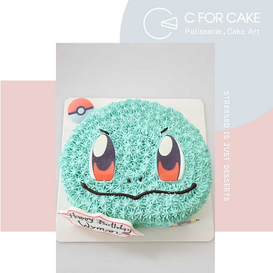 Squirtle車厘龜 吱花蛋糕