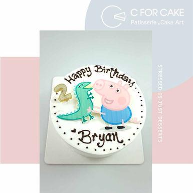 Peppa Pig 數碼打印 Cream Cake