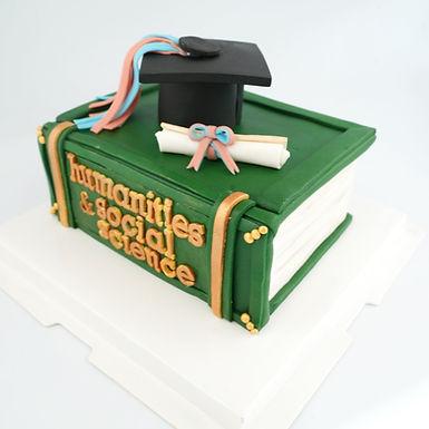 畢業生 書本 哈利波特 翻糖牛油蛋糕