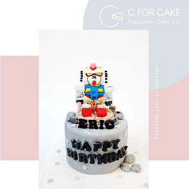 Gundam造型蛋糕